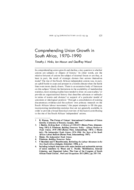 Comprehending Union Growth in South Africa, 1970-1990