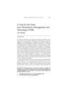 A Tract for the Times: Joan Woodward's Management and Technology (1958)
