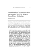 From Workplace Occupation to Mass Imprisonment: The 1984 Strike at Cammell Laird Shipbuilders