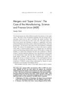 Mergers and 'Super Unions': The Case of the Manufacturing, Science and Finance Union (MSF)