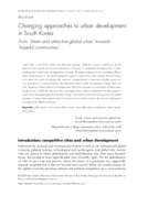 Changing approaches to urban development in South Korea