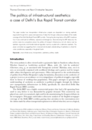 The politics of infrastructural aesthetics: a case of Delhi's Bus Rapid Transit corridor