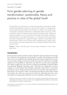 From gender planning to gender transformation: positionality, theory and practice in cities of the global South
