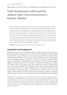 Multi-dimensional conflict and the resilient urban informal economy in Karachi, Pakistan