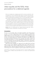 Urban equality and the SDGs: three provocations for a relational agenda