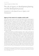 The role of agency in development planning and the development process: Introduction to the Special Issue on Agency and Development