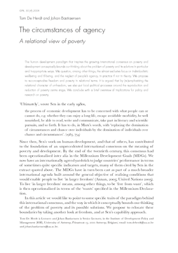 The circumstances of agency: A relational view of poverty