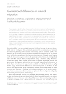 Generational differences in internal migration: Derelict economies, exploitative employment and livelihood discontent