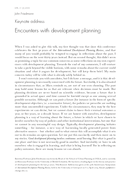 Keynote address: Encounters with development planning