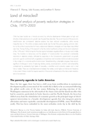 Land of miracles?: A critical analysis of poverty reduction strategies in Chile, 1975–2005