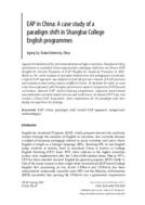 EAP in China: A case study of a paradigm shift in Shanghai College English programmes