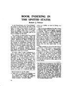 BOOK INDEXING IN THE UNITED STATES