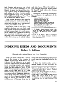 INDEXING DEEDS AND DOCUMENTS