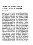 THE BRITISH RECORD SOCIETY-EIGHTY YEARS OF AN INDEX