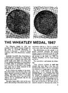 THE WHEATLEY MEDAL, 1967