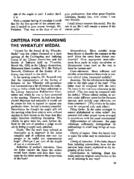 CRITERIA FOR AWARDING THE WHEATLEY MEDAL