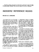 INDEXERS' REFERENCE BOOKS
