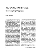 INDEXING IN ISRAEL