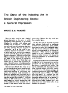 THE STATE OF THE INDEXING ART IN BRITISH ENGINEERING BOOKS: A GENERAL IMPRESSION