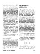 THE WHEATLEY MEDAL 1972
