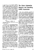 THE LIBRARY AUTOMATION RESEARCH AND CONSULTING (LARC) ASSOCIATION
