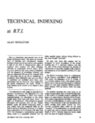 TECHNICAL INDEXING at B.T.I.