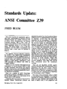 Standards Update: ANSI Committee Z39