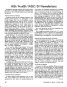 ASI/AusSI/IASC/SI Newsletters