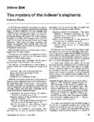 The mystery of the indexer's elephants