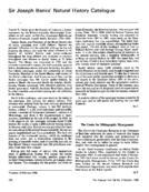 Sir Joseph Banks' Natural History Catalogue