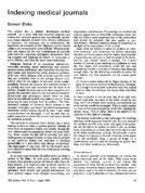 Indexing medical journals