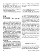 THE INDEXER Thirty years ago
