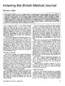 Indexing the British Medical Journal