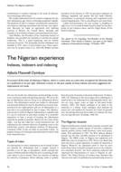 The Nigerian experience Indexes, indexers and indexing