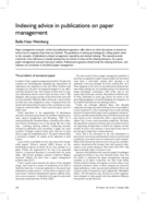 Indexing advice in publications on paper management
