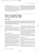 Diary of a trainee indexer, February 2003-May 2005