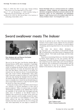 Sword swallower meets The Indexer