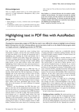 Highlighting text in PDF files with AutoRedact
