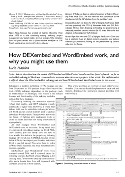 How DEXembed and WordEmbed work, and why you might use them