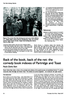 Back of the book, back of the net: the comedy book indexes of Partridge and Toast