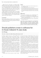 Should publishers invest in software for in-house indexers? A case study