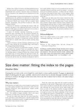 Size does matter: fitting the index to the pages