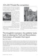 The thoughtful mutineers: the publisher looks back at indexing the Truth and Reconciliation Commission of Canada's final report