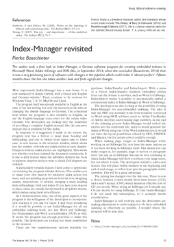 Index-Manager revisited
