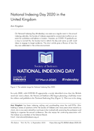 National Indexing Day 2020 in the United Kingdom