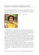 Diversity in Canadian Publishing Award