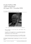 Douglas Matthews MBE: 'indexer extraordinaire' (23 August 1927-7 November 2020)