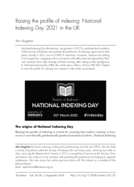 Raising the profile of indexing: National Indexing Day 2021 in the UK