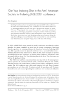 'Get Your Indexing Shot in the Arm': American Society for Indexing (ASI) 2021 conference
