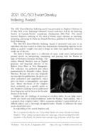 2021 ISC/SCI Ewart-Daveluy Indexing Award